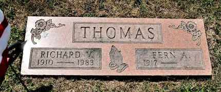 THOMAS, RICHARD V - Richland County, Ohio | RICHARD V THOMAS - Ohio Gravestone Photos