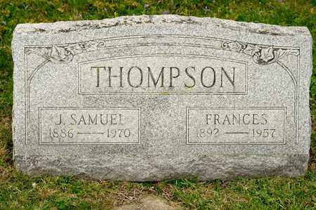 THOMPSON, J SAMUEL - Richland County, Ohio | J SAMUEL THOMPSON - Ohio Gravestone Photos