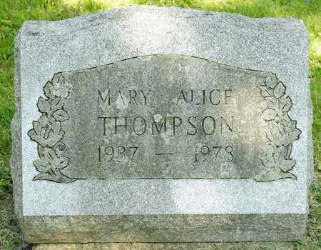 THOMPSON, MARY ALICE - Richland County, Ohio | MARY ALICE THOMPSON - Ohio Gravestone Photos