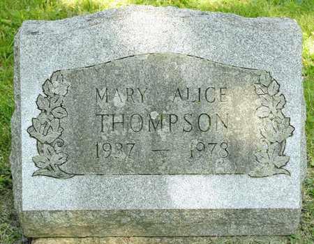 THOMPSON, MARY ALICE - Richland County, Ohio | MARY ALICE THOMPSON - Ohio Gravestone Photos