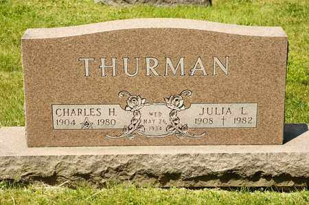 THURMAN, JULIA L - Richland County, Ohio | JULIA L THURMAN - Ohio Gravestone Photos