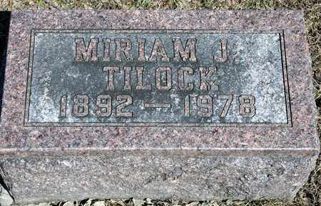 TILOCK, MIRIAM J - Richland County, Ohio | MIRIAM J TILOCK - Ohio Gravestone Photos