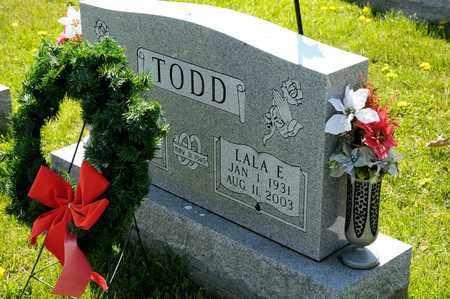 TODD, LALA E - Richland County, Ohio | LALA E TODD - Ohio Gravestone Photos