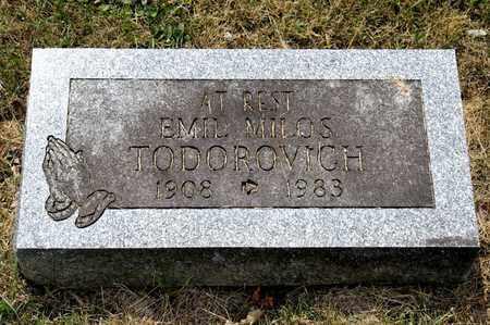TODOROVICH, EMIL MILOS - Richland County, Ohio | EMIL MILOS TODOROVICH - Ohio Gravestone Photos