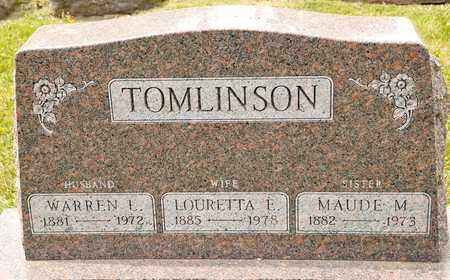 TOMLINSON, WARREN L - Richland County, Ohio | WARREN L TOMLINSON - Ohio Gravestone Photos