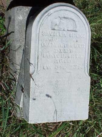 TOOKER, SAVILLA IRENE - Richland County, Ohio   SAVILLA IRENE TOOKER - Ohio Gravestone Photos