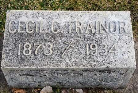 TRAINOR, CECIL C - Richland County, Ohio   CECIL C TRAINOR - Ohio Gravestone Photos