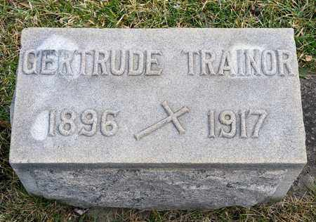 TRAINOR, GERTRUDE - Richland County, Ohio | GERTRUDE TRAINOR - Ohio Gravestone Photos