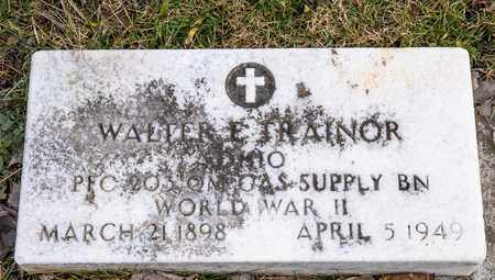 TRAINOR, WALTER E - Richland County, Ohio | WALTER E TRAINOR - Ohio Gravestone Photos