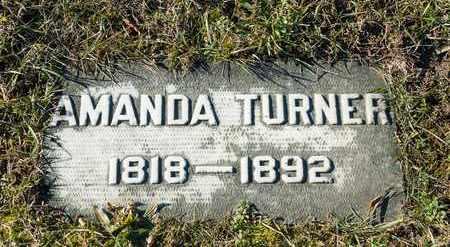 TURNER, AMANDA - Richland County, Ohio | AMANDA TURNER - Ohio Gravestone Photos