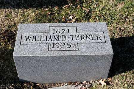 TURNER, WILLIAM D - Richland County, Ohio | WILLIAM D TURNER - Ohio Gravestone Photos