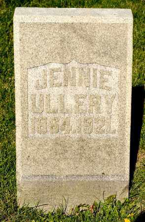 ULLERY, JENNIE - Richland County, Ohio | JENNIE ULLERY - Ohio Gravestone Photos