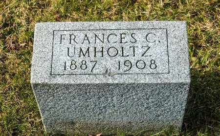 UMHOLTZ, FRANCES C - Richland County, Ohio | FRANCES C UMHOLTZ - Ohio Gravestone Photos