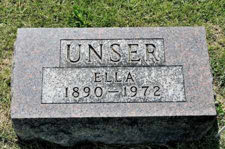 UNSER, ELLA - Richland County, Ohio | ELLA UNSER - Ohio Gravestone Photos