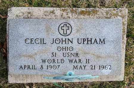 UPHAM, CECIL JOHN - Richland County, Ohio | CECIL JOHN UPHAM - Ohio Gravestone Photos