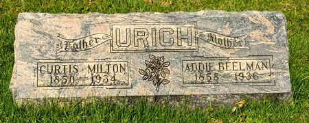 BEELMAN URICH, ADDIE - Richland County, Ohio | ADDIE BEELMAN URICH - Ohio Gravestone Photos