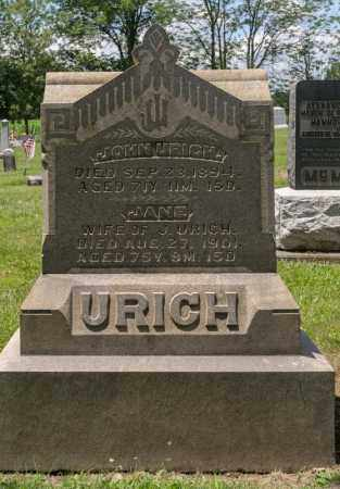 URICH, JANE - Richland County, Ohio | JANE URICH - Ohio Gravestone Photos