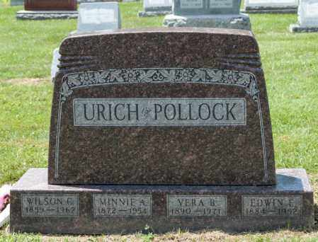URICH, MINNIE A - Richland County, Ohio | MINNIE A URICH - Ohio Gravestone Photos