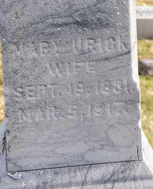 URICK, MARY - Richland County, Ohio | MARY URICK - Ohio Gravestone Photos