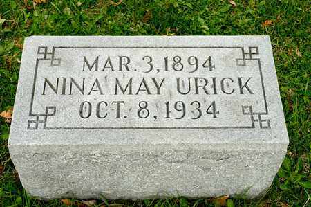 URICK, NINA MAY - Richland County, Ohio | NINA MAY URICK - Ohio Gravestone Photos