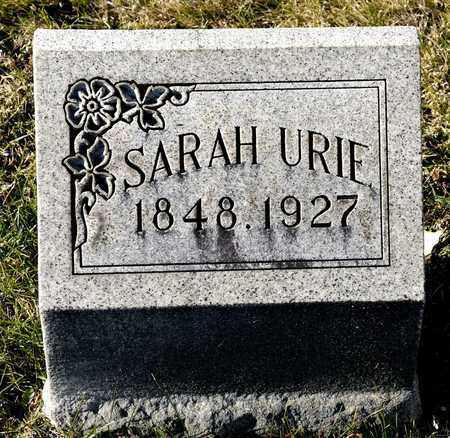 URIE, SARAH - Richland County, Ohio | SARAH URIE - Ohio Gravestone Photos