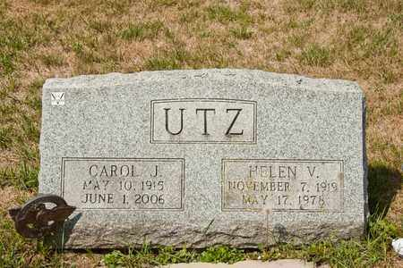 UTZ, CAROL J - Richland County, Ohio | CAROL J UTZ - Ohio Gravestone Photos