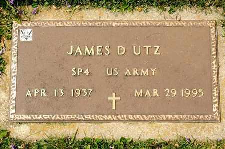 UTZ, JAMES D - Richland County, Ohio | JAMES D UTZ - Ohio Gravestone Photos