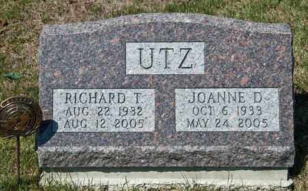 UTZ, JOANNE D - Richland County, Ohio | JOANNE D UTZ - Ohio Gravestone Photos