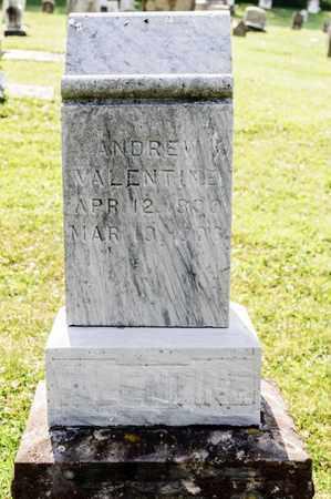 VALENTINE, ANDREW - Richland County, Ohio   ANDREW VALENTINE - Ohio Gravestone Photos