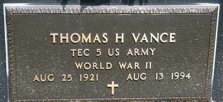 VANCE, THOMAS H - Richland County, Ohio | THOMAS H VANCE - Ohio Gravestone Photos