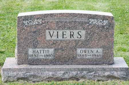 VIERS, HATTIE - Richland County, Ohio | HATTIE VIERS - Ohio Gravestone Photos