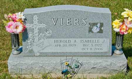 VIERS, ISABELLE J - Richland County, Ohio | ISABELLE J VIERS - Ohio Gravestone Photos