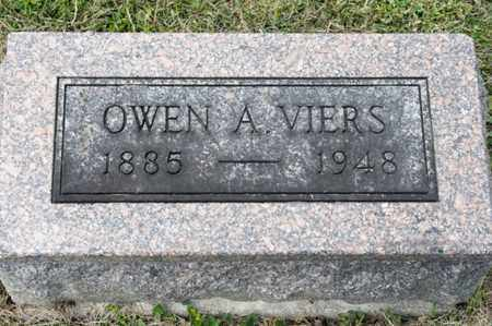 VIERS, OWEN A - Richland County, Ohio | OWEN A VIERS - Ohio Gravestone Photos