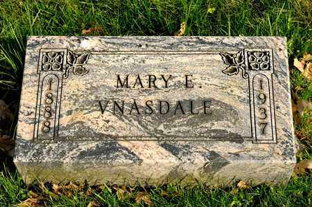 VNASDALE, MARY E - Richland County, Ohio | MARY E VNASDALE - Ohio Gravestone Photos