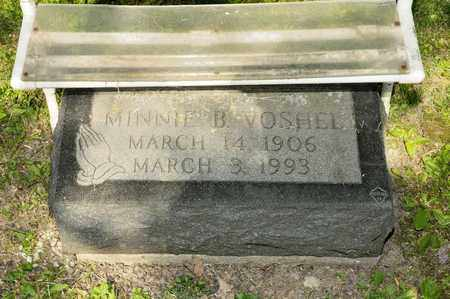 VOSHEL, MINNIE B - Richland County, Ohio | MINNIE B VOSHEL - Ohio Gravestone Photos