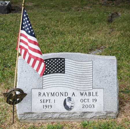 WABLE, RAYMOND A - Richland County, Ohio   RAYMOND A WABLE - Ohio Gravestone Photos