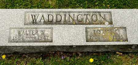 WADDINGTON, WALTER W - Richland County, Ohio | WALTER W WADDINGTON - Ohio Gravestone Photos