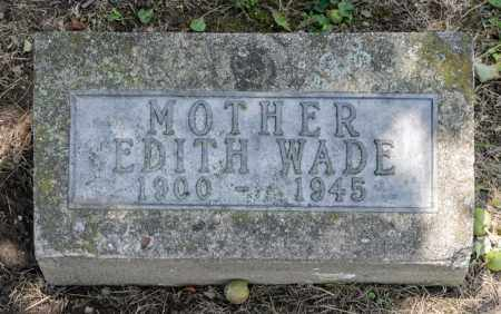 WADE, EDITH - Richland County, Ohio | EDITH WADE - Ohio Gravestone Photos