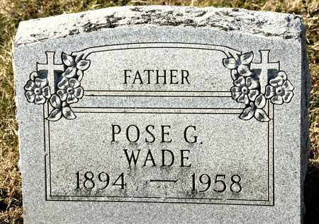 WADE, POSE G - Richland County, Ohio | POSE G WADE - Ohio Gravestone Photos