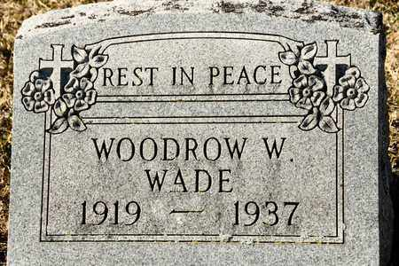 WADE, WOODROW W - Richland County, Ohio | WOODROW W WADE - Ohio Gravestone Photos