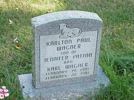 WAGNER, KARLTON PAUL - Richland County, Ohio | KARLTON PAUL WAGNER - Ohio Gravestone Photos