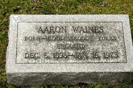 WAINES, AARON - Richland County, Ohio   AARON WAINES - Ohio Gravestone Photos