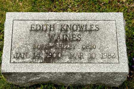 KNOWLES WAINES, EDITH - Richland County, Ohio | EDITH KNOWLES WAINES - Ohio Gravestone Photos