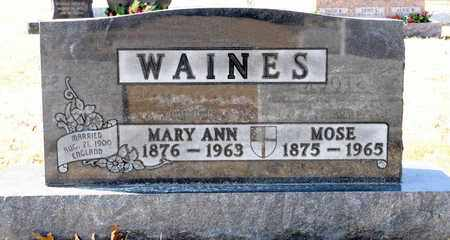 WAINES, MOSE - Richland County, Ohio | MOSE WAINES - Ohio Gravestone Photos