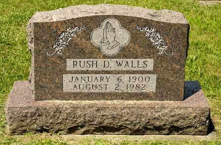 WALLS, RUSH D - Richland County, Ohio | RUSH D WALLS - Ohio Gravestone Photos