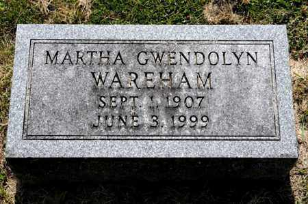 WAREHAM, MARTHA GWENDOLYN - Richland County, Ohio | MARTHA GWENDOLYN WAREHAM - Ohio Gravestone Photos