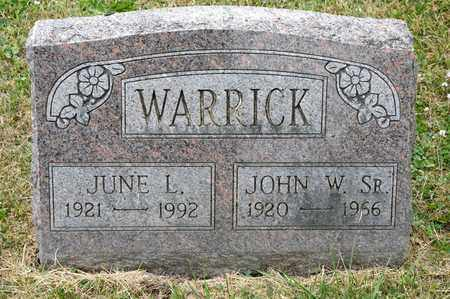 WARRICK, JUNE L - Richland County, Ohio | JUNE L WARRICK - Ohio Gravestone Photos