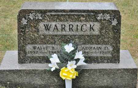 WARRICK, ADRAIN D - Richland County, Ohio | ADRAIN D WARRICK - Ohio Gravestone Photos