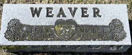WEAVER, FRED W - Richland County, Ohio | FRED W WEAVER - Ohio Gravestone Photos