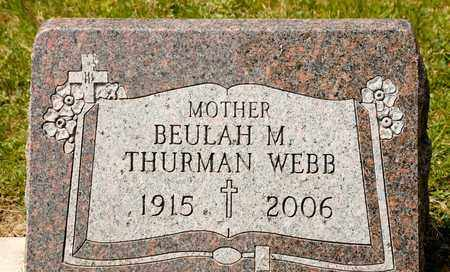 JOHNSON WEBB, BEULAH M - Richland County, Ohio | BEULAH M JOHNSON WEBB - Ohio Gravestone Photos